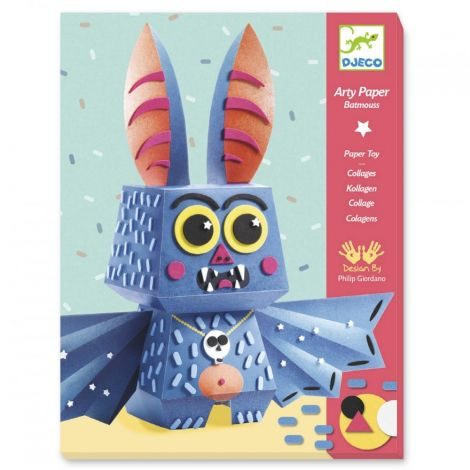 ARTY PAPER + FOAM STICKERS CRAFT ACTIVITY SET: BATMOUSS
