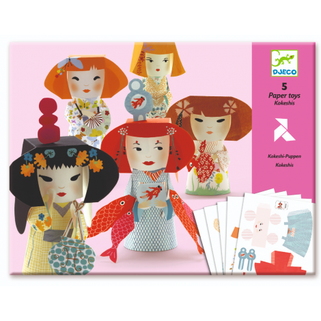 PAPER FOLDING ACTIVITY SET: KOKESHIS