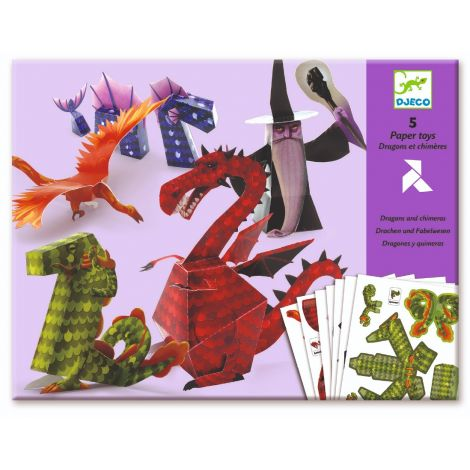 PAPER FOLDING ACTIVITY SET: DRAGONS & CHIMERAS