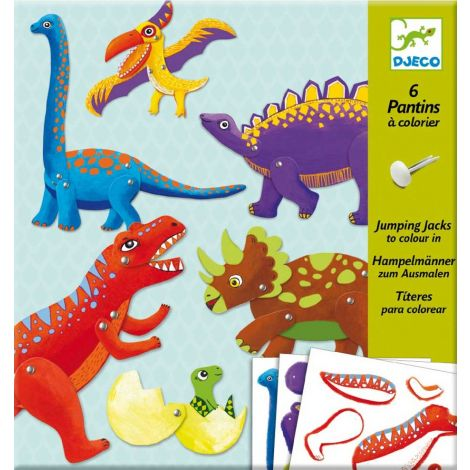 JUMPING JACKS COLOURING ACTIVITY SET: DINOSAURS