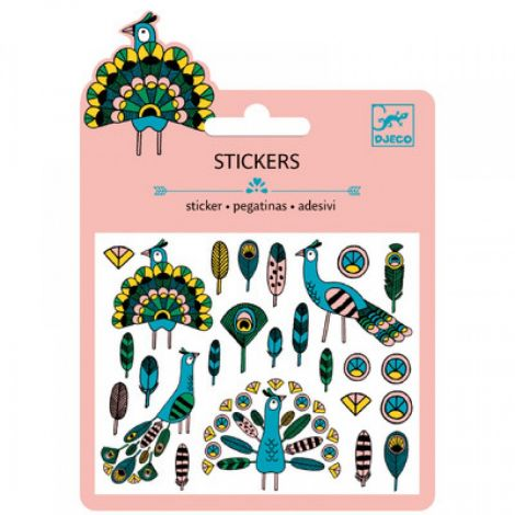 MINI GLITTER STICKERS: FEATHERS & PEACOCKS (4 FOR $10)