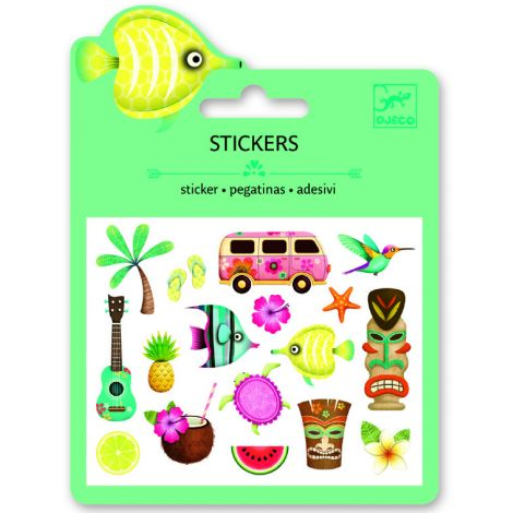 MINI PUFFY STICKERS: HAWAIIAN DESIGNS (4 FOR $10)