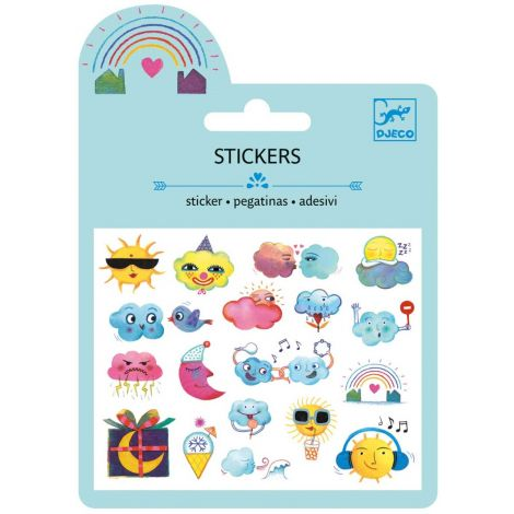 MINI PUFFY STICKERS: WEATHER (4 FOR $10)