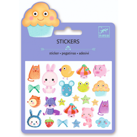 MINI PUFFY STICKERS: KAWAII (4 FOR $10)