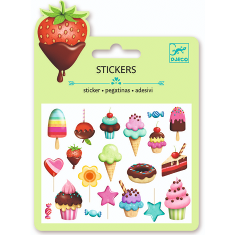 MINI PUFFY STICKERS: SWEET TREATS (4 FOR $10)