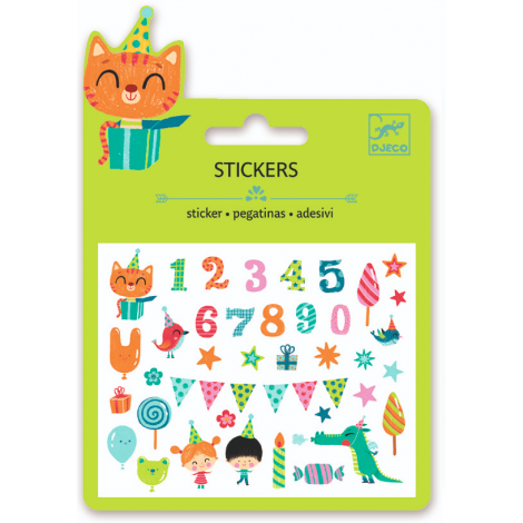 MINI PUFFY STICKERS: BIRTHDAY NUMBERS (4 FOR $10)