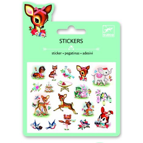 MINI PUFFY STICKERS: VINTAGE ANIMALS (4 FOR $10)