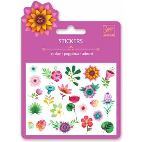 MINI GLITTER STICKERS: TROPICAL FLOWERS (4 FOR $10)