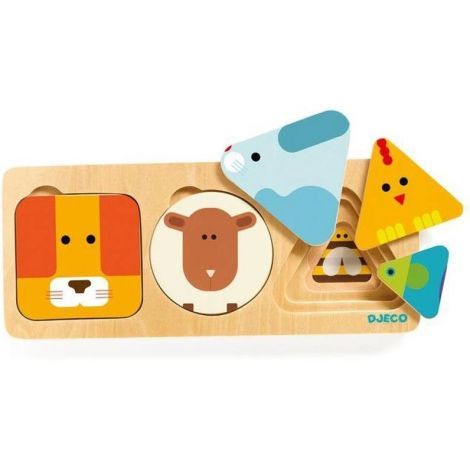 ANIMABASIC 3-LAYER WOODEN PUZZLE