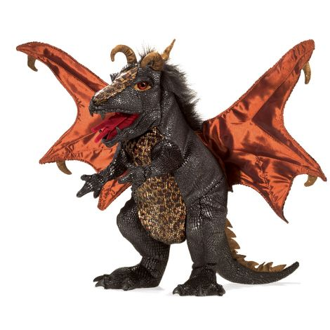 BLACK DRAGON HAND PUPPET