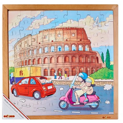 WOODEN JIGSAW PUZZLE: WONDERS OF THE WORLD - THE COLOSSEUM (81PC)
