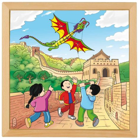 WOODEN JIGSAW PUZZLE: WONDERS OF THE WORLD - THE GREAT WALL OF CHINA (81PC)