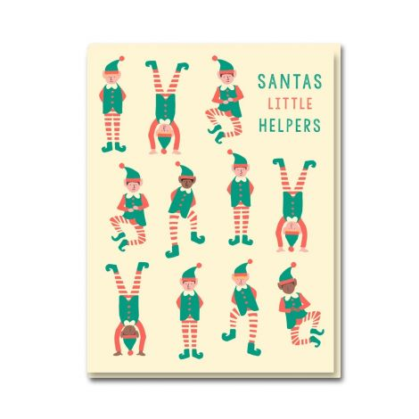 ELF PARTY HOLIDAY GREETING CARDS, BY EMMA COOTER (BOX OF 8)