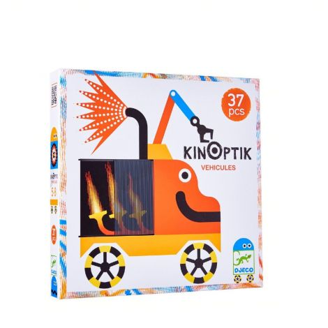 KINOPTIK ANIMATED OPTICAL ILLUSION PUZZLE: VEHICLES (37PC)