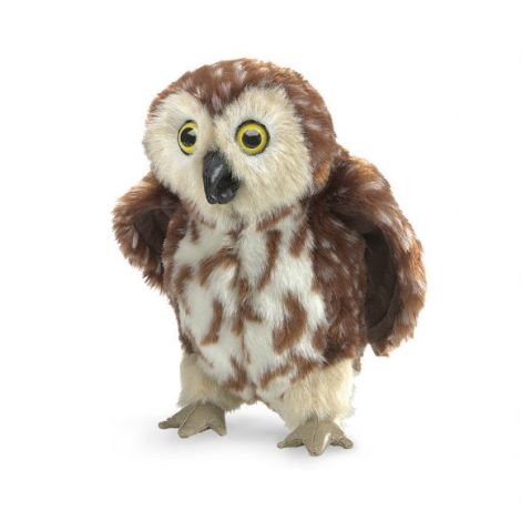 SAW WHET OWL HAND PUPPET