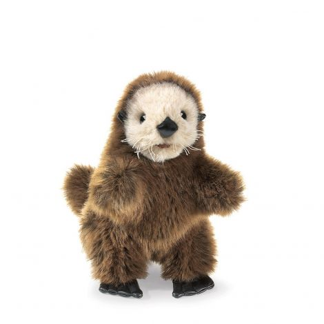 BABY SEA OTTER HAND PUPPET