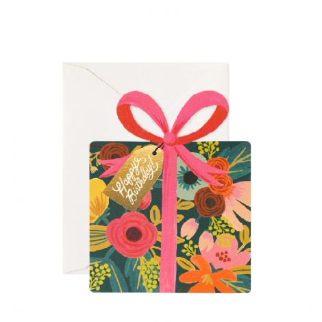 DIECUT PRESENT BIRTHDAY GREETING CARD, BY RIFLE PAPER CO.