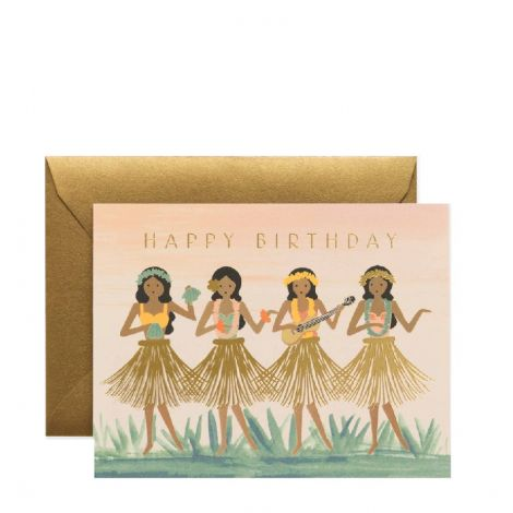 HULA BIRTHDAY GREETING CARD, BY RIFLE PAPER CO.