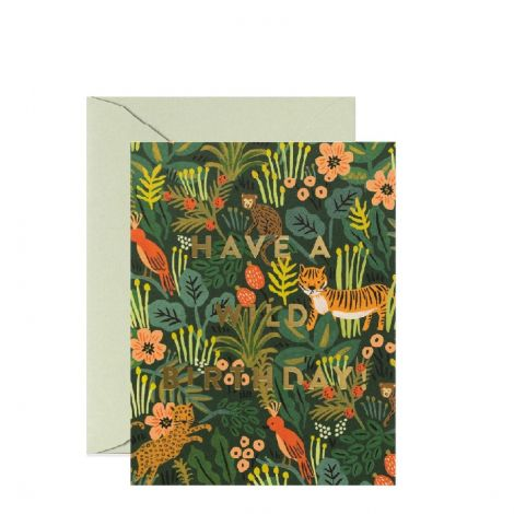 WILD BIRTHDAY GREETING CARD, BY RIFLE PAPER CO.
