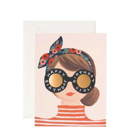 BIRTHDAY GIRL GREETING CARD, BY RIFLE PAPER CO.