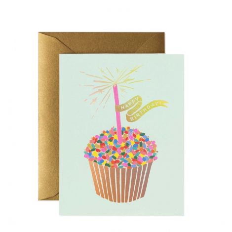 CUPCAKE BIRTHDAY GREETING CARD, BY RIFLE PAPER CO.