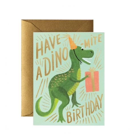 DINO-MITE BIRTHDAY GREETING CARD, BY RIFLE PAPER CO.