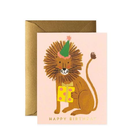 LION BIRTHDAY GREETING CARD, BY RIFLE PAPER CO.