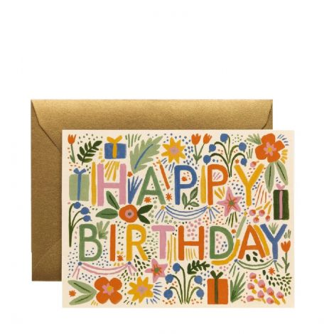 FIESTA BIRTHDAY GREETING CARD, BY RIFLE PAPER CO.
