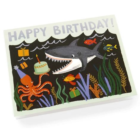 SHARK BIRTHDAY GREETING CARD, BY RIFLE PAPER CO.