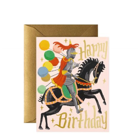 KNIGHTS BIRTHDAY GREETING CARD, BY RIFLE PAPER CO.