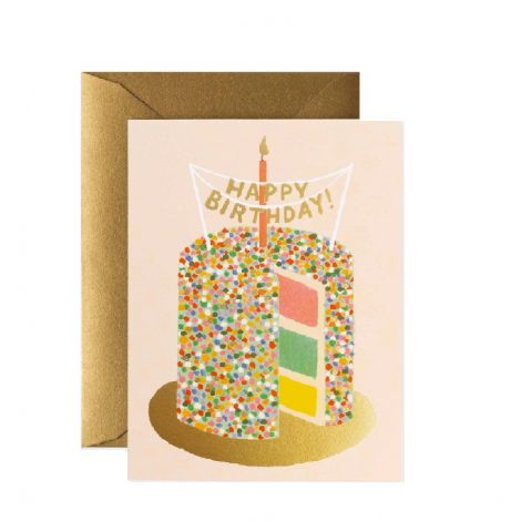 LAYER CAKE BIRTHDAY GREETING CARD, BY RIFLE PAPER CO.