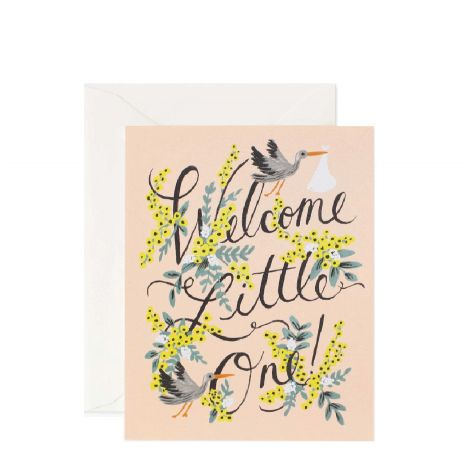 WELCOME LITTLE ONE GREETING CARD, BY RIFLE PAPER CO.