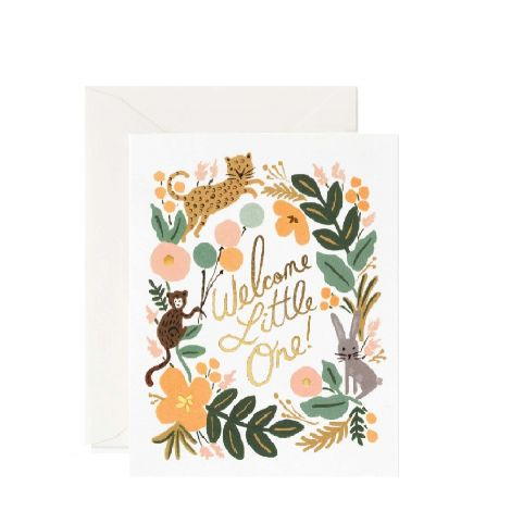 MENAGERIE GREETING CARD, BY RIFLE PAPER CO.