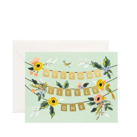 WELCOME GARLAND GREETING CARD, BY RIFLE PAPER CO.
