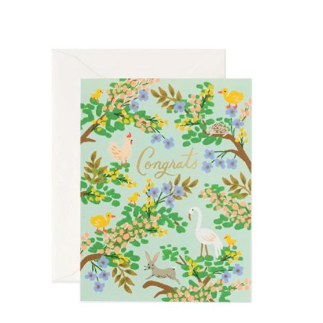CONGRATS FOREST GREETING CARD, BY RIFLE PAPER CO.