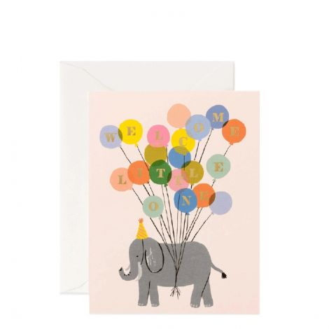 WELCOME ELEPHANT GREETING CARD, BY RIFLE PAPER CO.