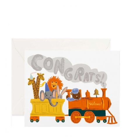 LITTLE ENGINE GREETING CARD, BY RIFLE PAPER CO.