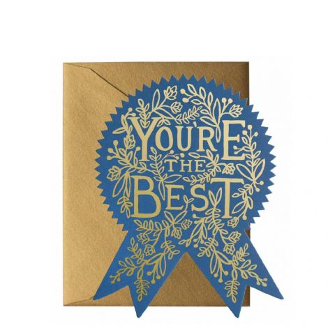 YOU'RE THE BEST GREETING CARD, BY RIFLE PAPER CO.