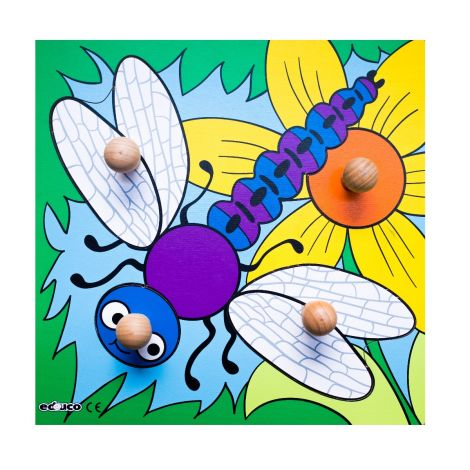 WOODEN KNOB PUZZLE: DRAGONFLY