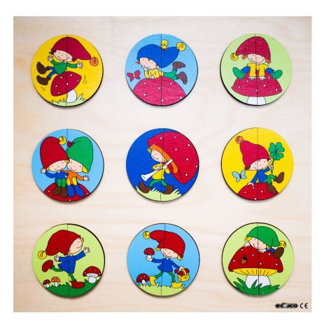 WOODEN 2PC PUZZLES: GNOME CIRCLE