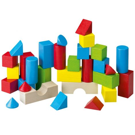 HABA BAUSTEINE: 30PC COLOURED BUILDING BLOCKS