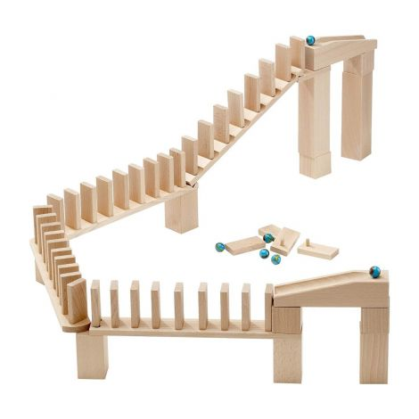 60PC DOMINO RALLY MARBLE RUN COMPLEMENTARY EXPANSION SET