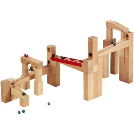 HABA MARBLE RUN: 42PC BASIC TRACK SET
