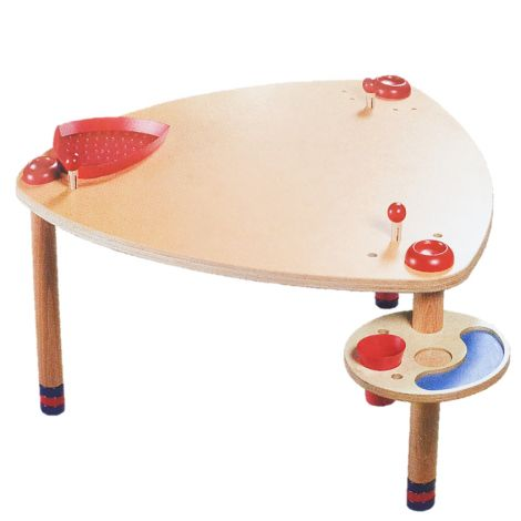 REVERSIBLE-TOP GAMES TABLE W/ ADJUSTABLE HEIGHT