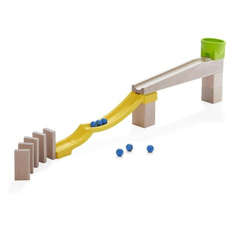 17PC 'STOP AND GO' MARBLE RUN COMPLEMENTARY EXPANSION SET