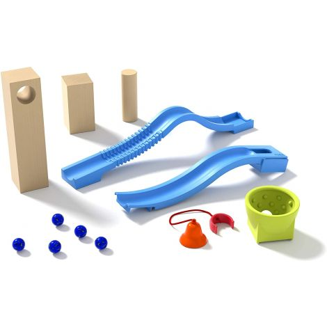 10PC 'RATTLE RACE' MARBLE RUN COMPLEMENTARY EXPANSION SET