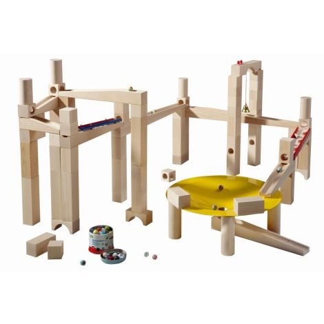 HABA MARBLE RUN: 79PC MASTER BUILDING TRACK SET
