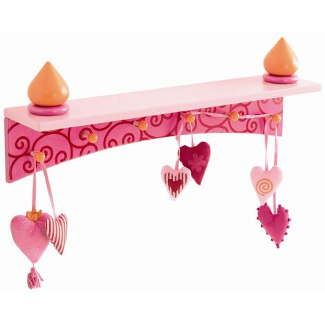 PIA HEARTS MULTI-PURPOSE WALL SHELF