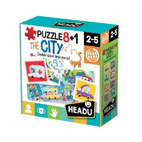 8+1 DOUBLE-SIDED PUZZLE: CITY