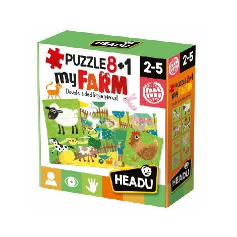 8+1 DOUBLE-SIDED PUZZLE: FARM